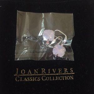 Joan Rivers crystal style, drop earrings